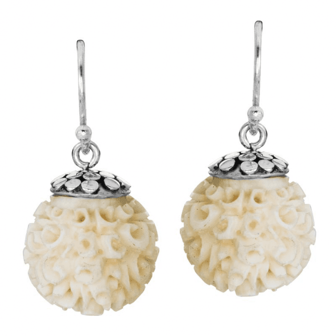 Delicately Hand Carved Earrings