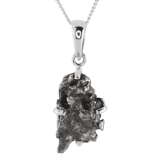 Ladies Shipton and Co Silver and Meteorite Pendant including a 16 Silver Chain TJP018ME