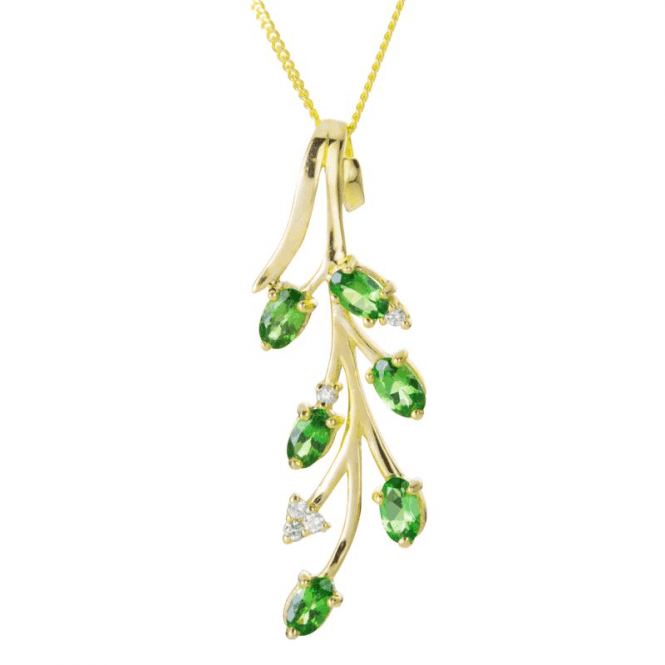 Shipton and Co Ladies Shipton and Co 9ct Yellow Gold and Tsavorite Pendant including a 16 9ct Chain PYD126TSD