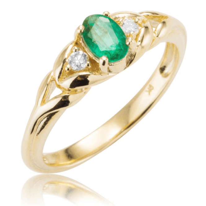Ladies Shipton and Co Exclusive 9ct Yellow Gold and Emerald Ring RYD125EMD