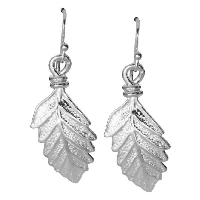 Sterling Silver Leaf Earrings Only £27.50