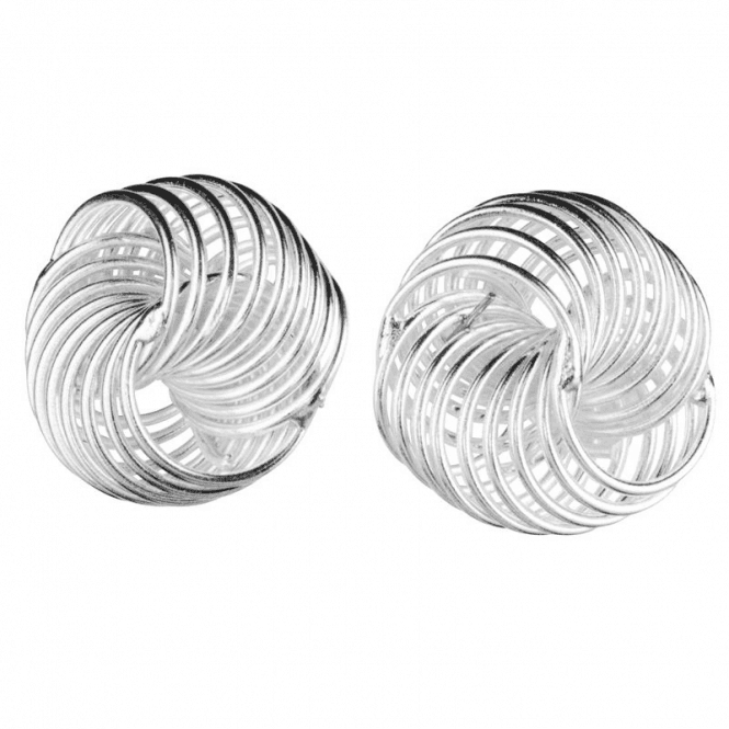 Ladies Shipton and Co Silver Circle Earrings TFE113NS