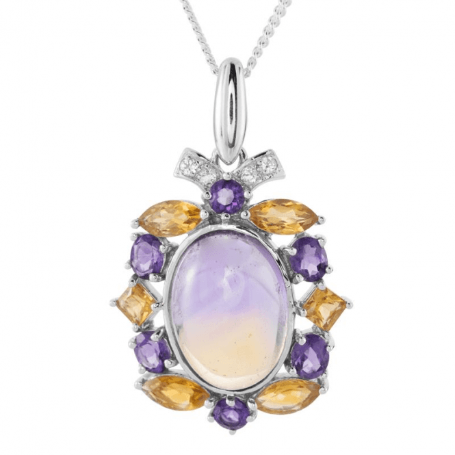 Ladies Shipton and Co Exclusive Silver and Ametrine Pendant including a 16 Silver Chain PQA515ATMU