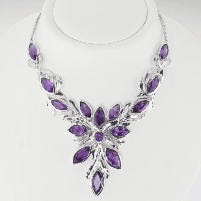 Shipton and Co Ladies Shipton and Co Exclusive Silver and Amethyst Necklace NQA510AM