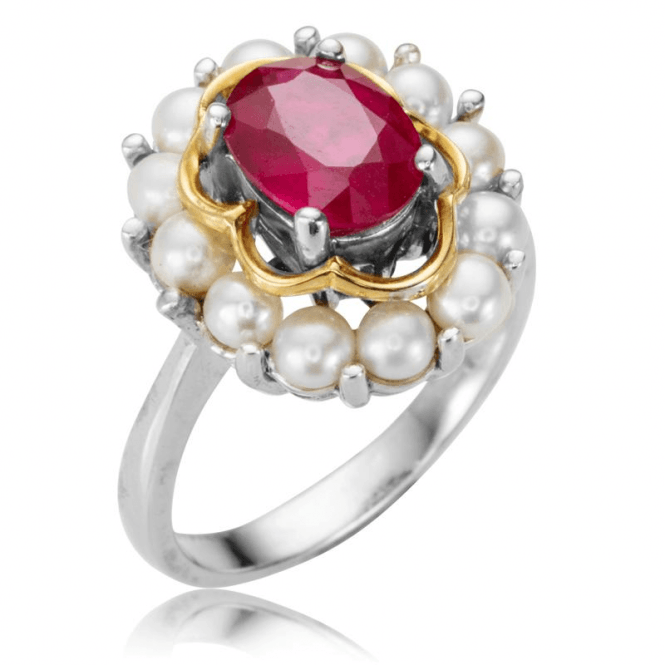 Ladies Shipton and Co Silver and Ruby Ring RQF006RUFP