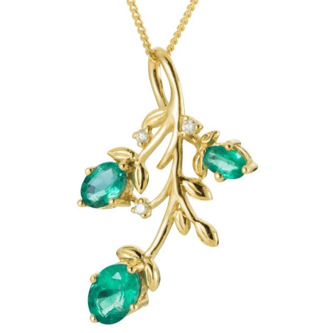 1.6cts of Zambian Emeralds Lit by Diamonds