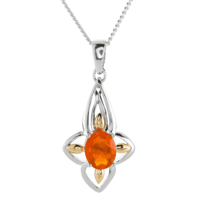 Ladies Shipton and Co Silver and Fire Opal Pendant including a PQF005FO
