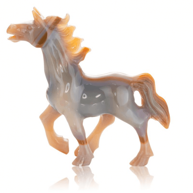 Shipton and Co Ladies Shipton and Co Red Agate Horse Carving CFE001AG