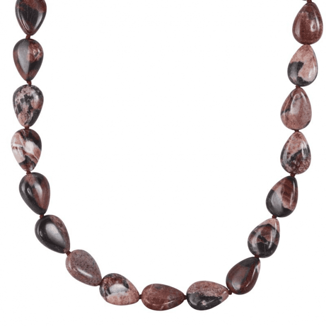 Ladies Shipton and Co Silver and Landscape Red Jasper Beads BFE047LS