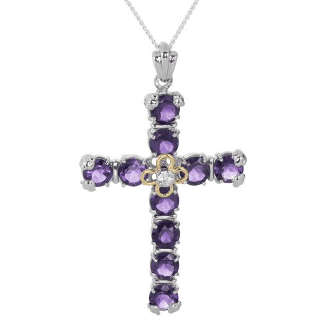 Magnificently Oversized Cross with 12cts of African Amethysts