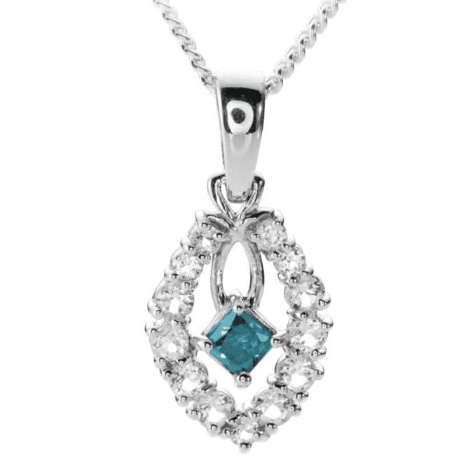 Rare Blue Diamond Pendant Only £185