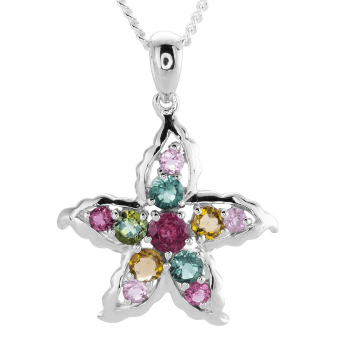 Shipton and Co Ladies Shipton and Co Silver and 1.25ct Tourmaline Pendant including a 16 Silver Chain TFE084TT