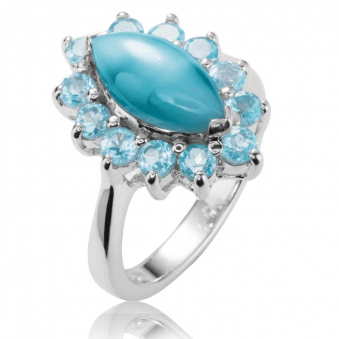 Turquoise & Sky Blue Topaz Ring Only £75