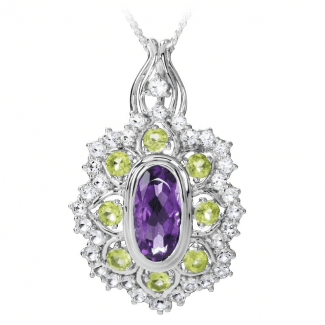 Shipton and Co Suffragette Pendant of Demonstrable 10½ct Jewelled Colour