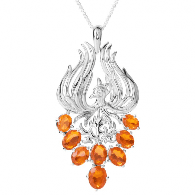 Phoenix Pendant Displays 6¼cts of Exceptional Quality Fire Opals