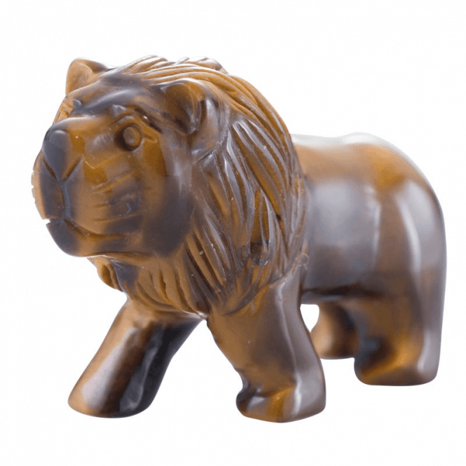 Shipton and Co Two Inch Tiger Eye Lion Carving CMH007TE