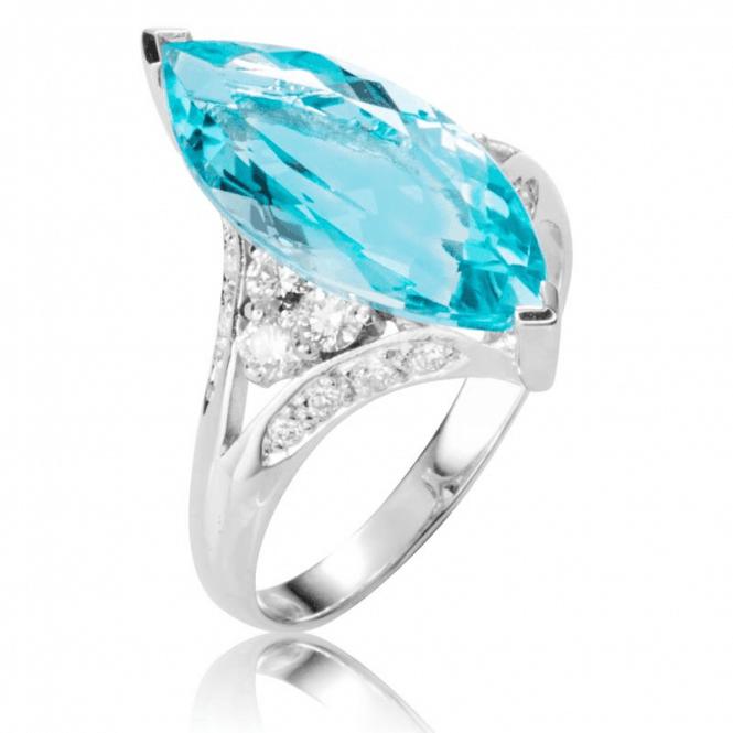 Over 4ct Extravagance of Aquamarine in 18ct White Gold