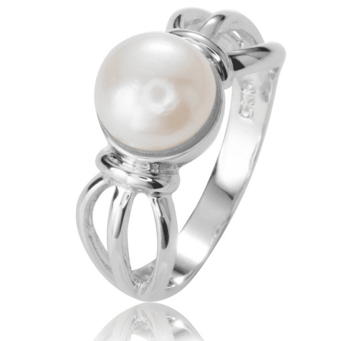 Ladies Shipton and Co Silver and Freshwater Pearls Ring TSV019FP