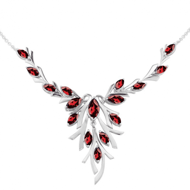 Emily?s Garnets of Foliate Intricacy Necklet