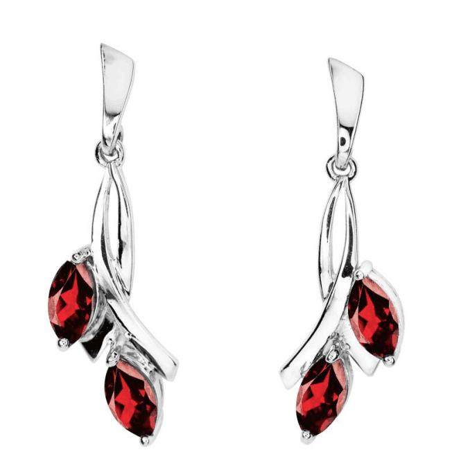 Emily's Garnets of Foliate Intricacy Earrings