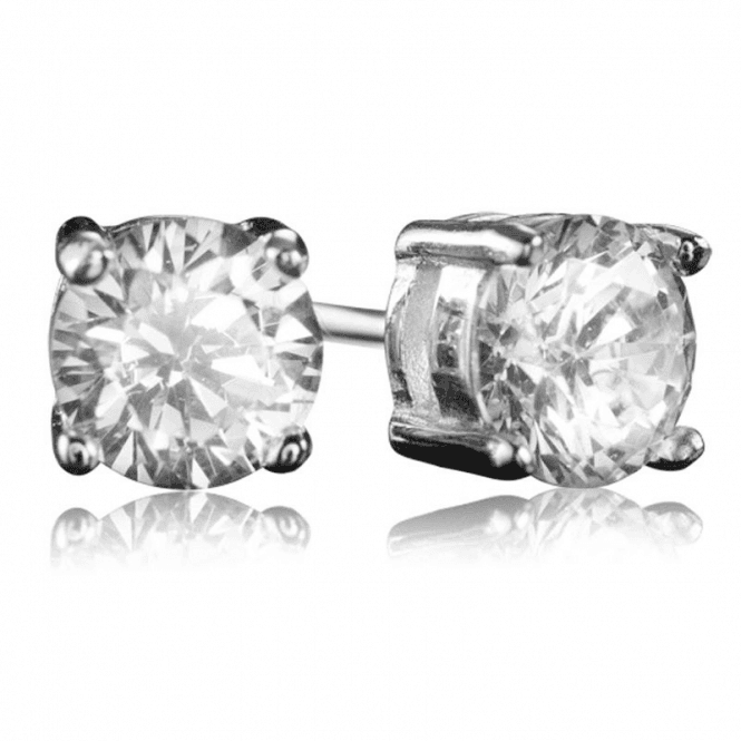 Ladies Shipton and Co Silver and Cubic Zirconia Earrings TAO026CZ