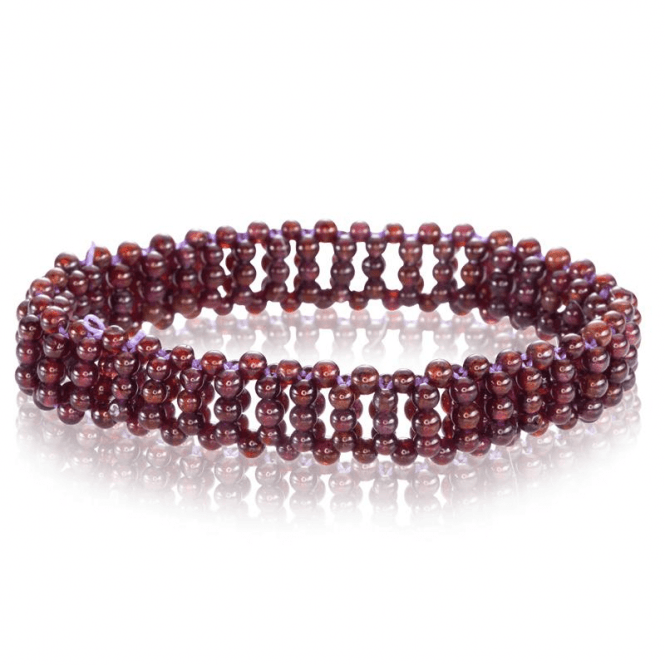80cts of Garnet Woven with an Easy-Fitting Stretch