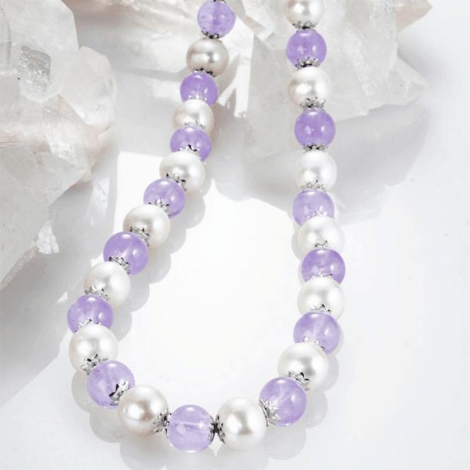 Lavender Amethyst & Pearl Necklet