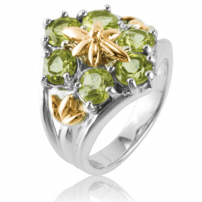 Shipton and Co Ladies Shipton and Co Silver and Peridot Ring RQF009PE