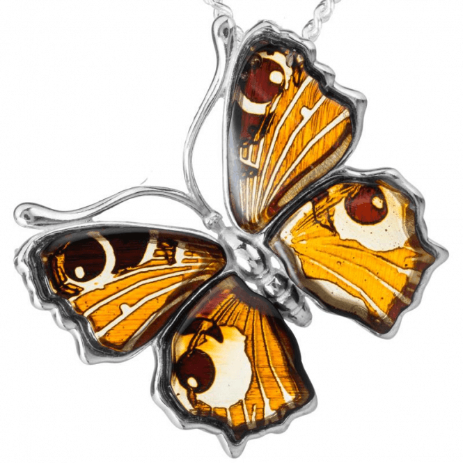 Ladies Shipton and Co Silver and Amber Pendant including a 16 Silver Chain TFE209AB