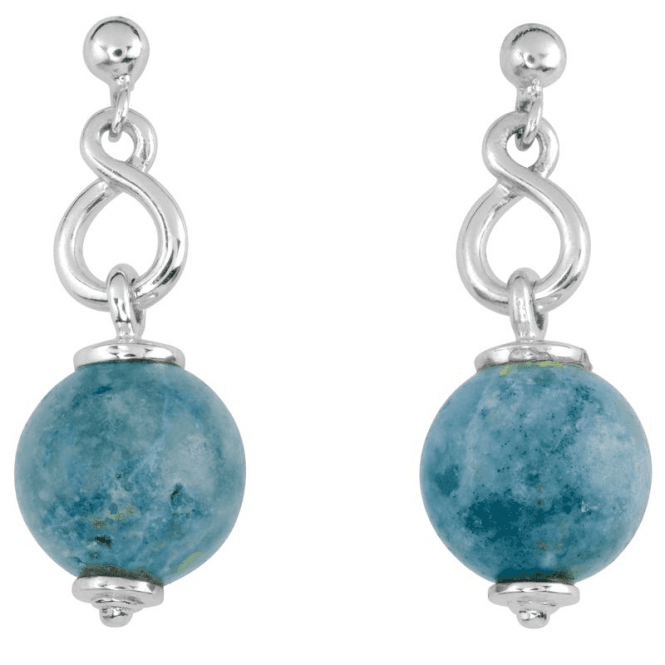 Natural Blue Opal Earrings