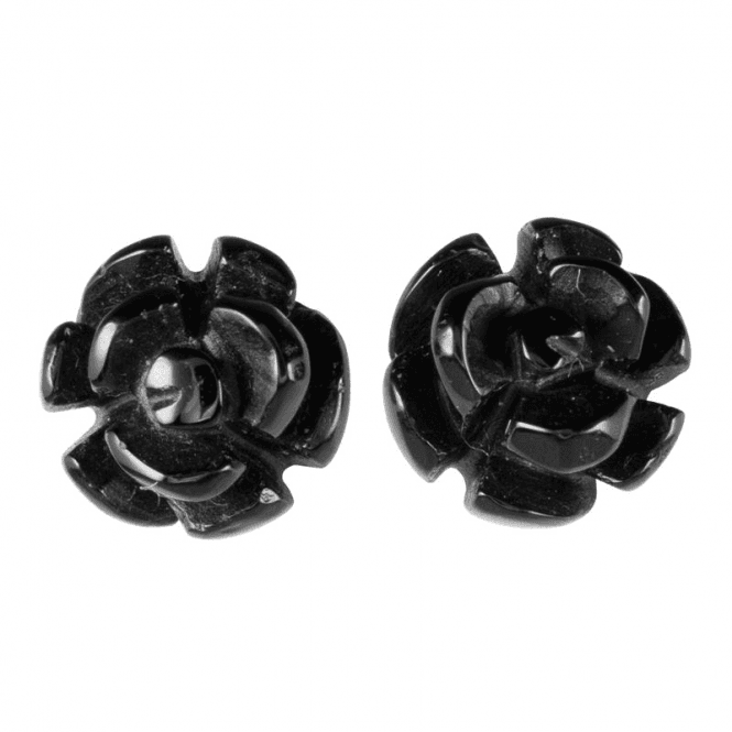 Opera Studs of Hand Carved Onyx