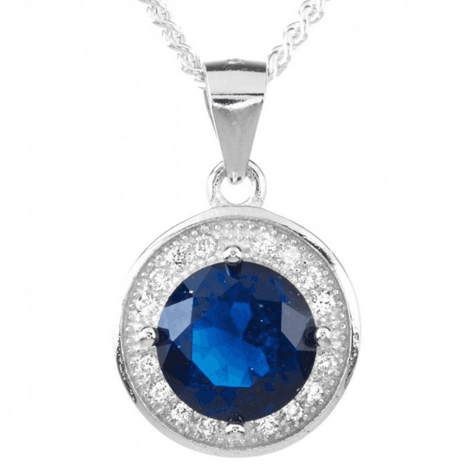 Ladies Shipton and Co Silver and Cubic Zirconia Pendant including a 16 Silver Chain TDA197CZ
