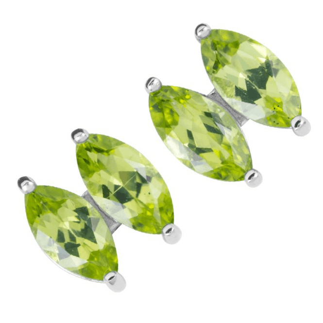 Bright Marquise Peridot in Scintillating Pairs