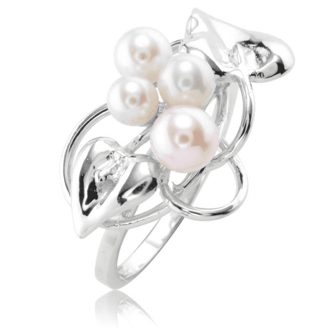 Ladies Shipton and Co Silver and Freshwater Pearls Ring TEN059FP