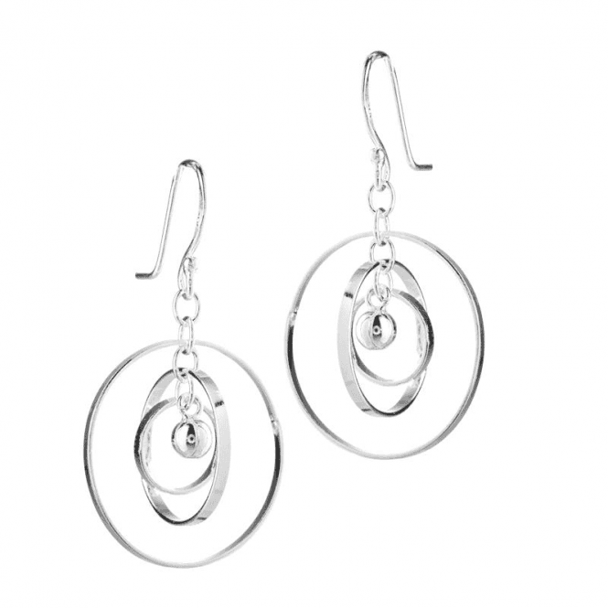 Planetary Inspired Earrings in Sterling Silver