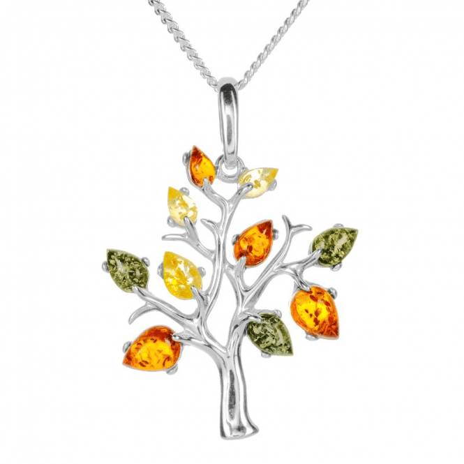 Ladies Shipton and Co Silver and Amber Pendant including a 16 Silver Chain TFE241AB