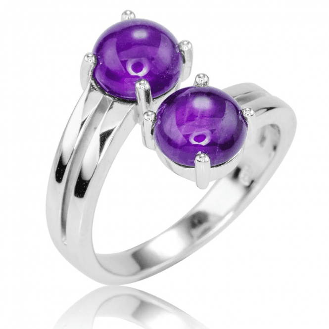 Ladies Shipton and Co Silver and Amethyst Ring RQA587AM