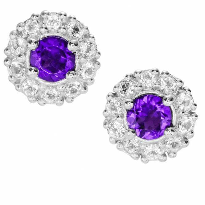 Eternity Amethyst Earrings