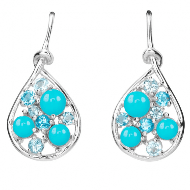 Ladies Shipton and Co Silver and Turquoise TSV056TQBT