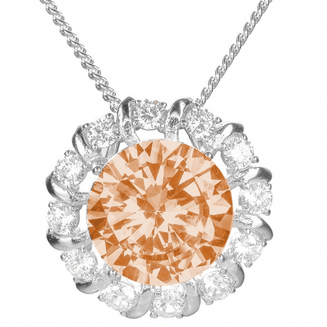 Ladies Shipton and Co Silver and Cubic Zirconia Pendant including a 16 Silver Chain TAO036CZ