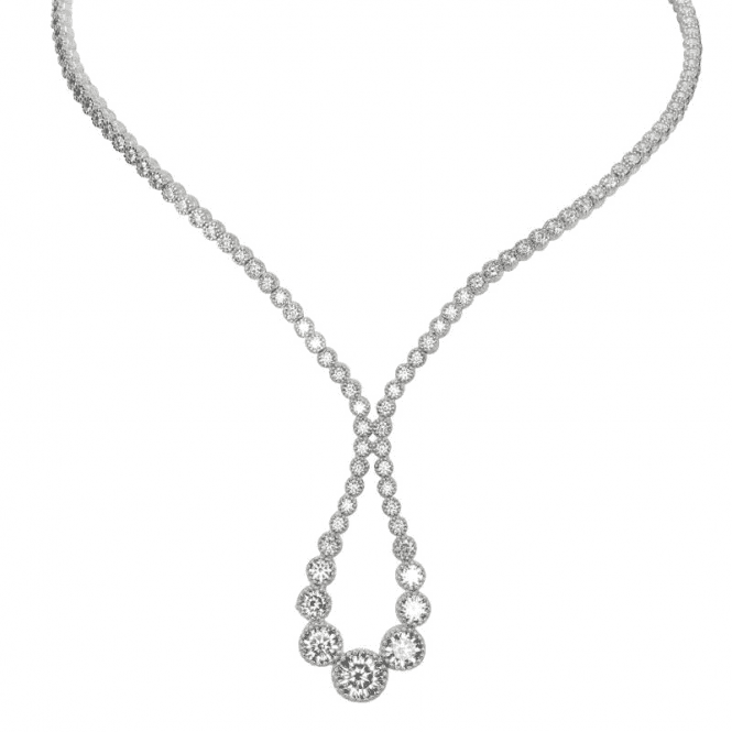 Ladies Shipton and Co Silver and Cubic Zirconia Necklace TFE244CZ