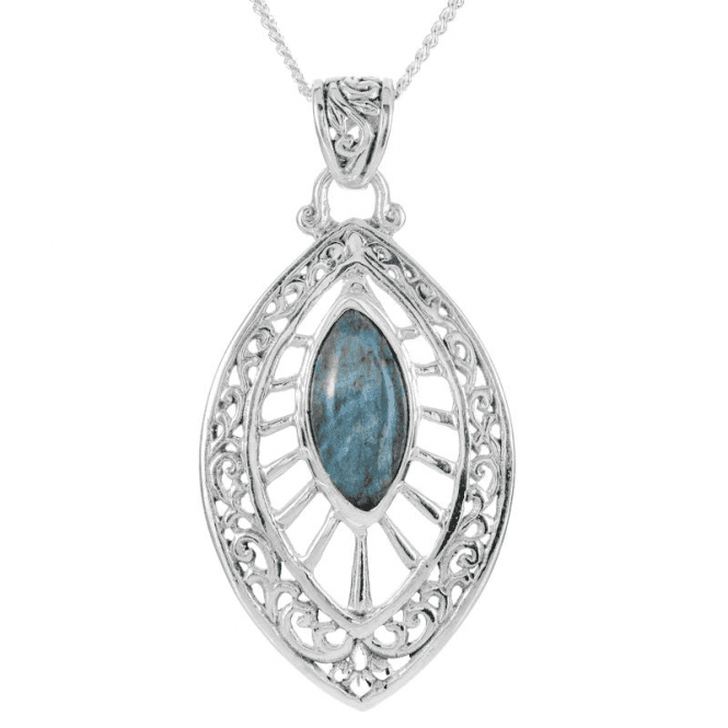 Ladies Shipton and Co Silver and Labradorite Pendant including a 16 Silver Chain TSS261LB