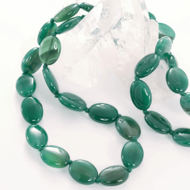 Ladies Shipton and Co Silver and Green Agate Beads BWT002GA