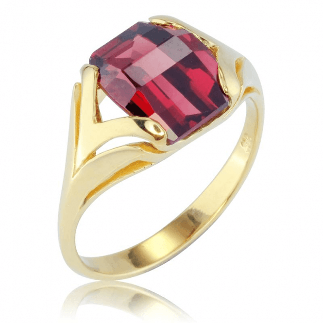 4¾ct Chequerboard Garnet in Contemporary 9ct Gold