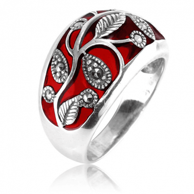 Ladies Shipton and Co Silver and Marcasite Ring TFE259MM