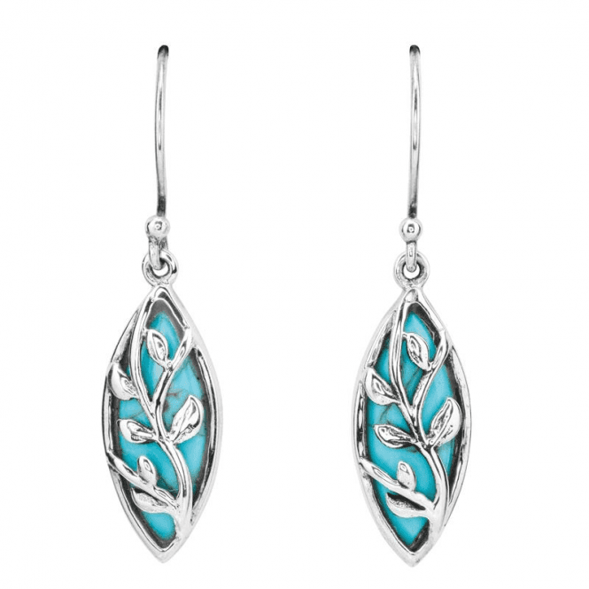 Overlaid Turquoise Earrings