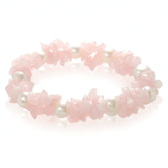 Pearl & Rose Quartz Stretch Bracelet