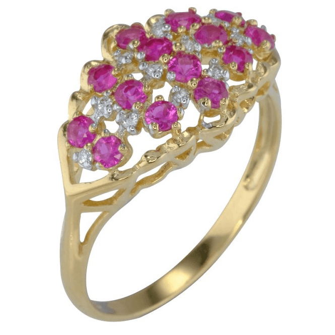 Ladies Shipton and Co 9ct Yellow Gold and Ruby Ring RYD154RUD