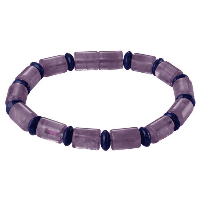 Mindfulness Bracelet of Amethyst & Lapis Lazuli