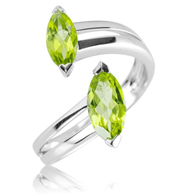 Comfy-fit Crossover Ring with 2cts of Peridot Energy